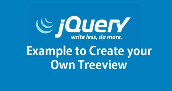 JQuery Treeview example using HTML Ul li elements